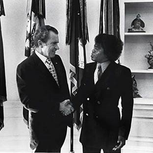 James Brown and President Nixon
