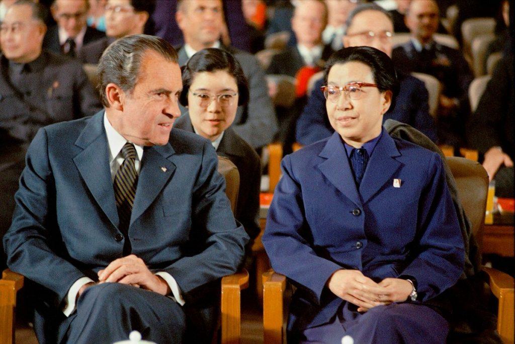 President Nixon and Jiang Qing